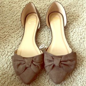 Charming Charlie's flats with bow
